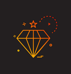 Dimond icon design vector