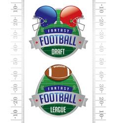 Fantasy football american football emblems vector