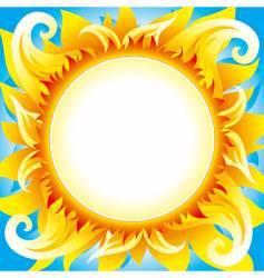 fiery sun vector image