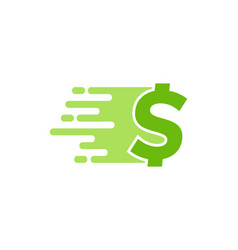 finance delivery logo icon design vector image