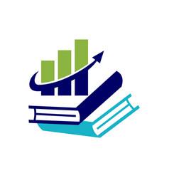 Financial accounting consulting book logo vector