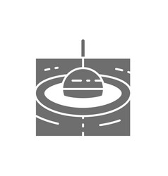 Fishing float grey icon isolated on white vector