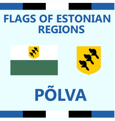Flag of estonian region polva vector
