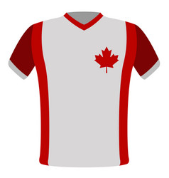 flag t-shirt of canada vector image
