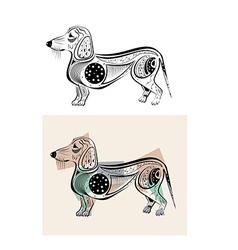 Funny dachshund vector