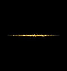 Glow isolated golden transparent effect lens vector