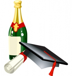 Graduation illustration vector