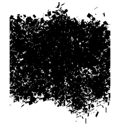 Grunge abstract pattern in black over white vector