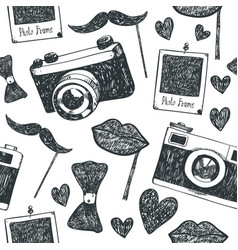 hand drawn doodle hipster seamless vector image