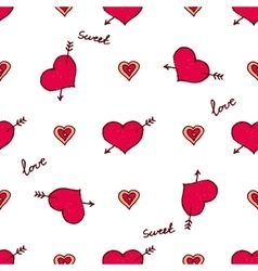 handdrawn seamless pattern for Saint vector image