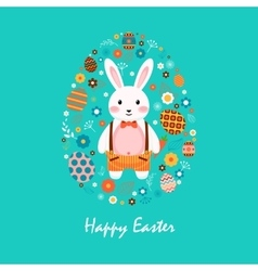 Happy easter 7 vector image
