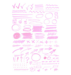 Highlighter marks big set vector