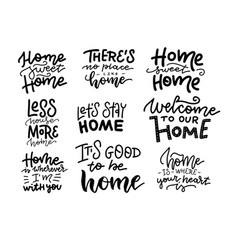 home sweet home beautiful hand drawn lettering vector image