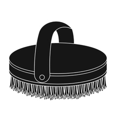 Horse body brush icon in black style isolated on vector image
