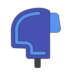 icon in flat design ski helmet vector image