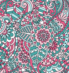 Indian Floral Seamless Pattern vector
