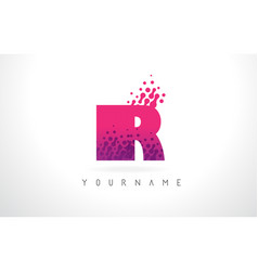 Ir i r letter logo with pink purple color and vector