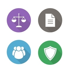 Lawyer flat design icons vector