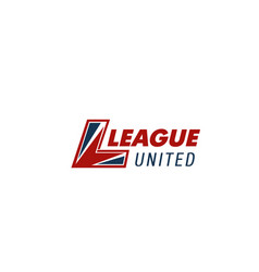 league united sport club letter l icon vector image