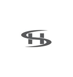 Letter sh modern vector