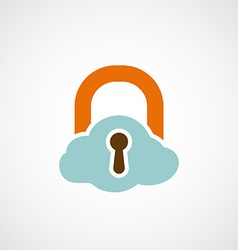 Logo lock as a cloud vector image