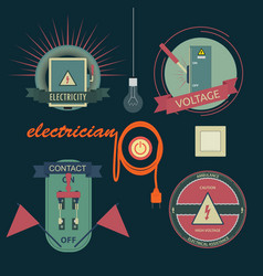 logos of electrical equipment vector image