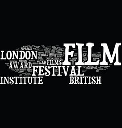 London film festival text background word cloud vector