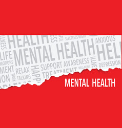 Mental health words background vector