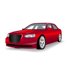 modern car red color white background image vector image