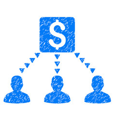 Money recipients grunge icon vector
