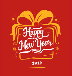 New year 2019 card vector