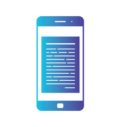 opening of an incoming email to a smartphone e vector image