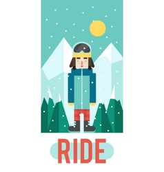 Pattern for your phone case with nice snowboarder vector