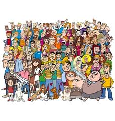 People in the crowd cartoon vector