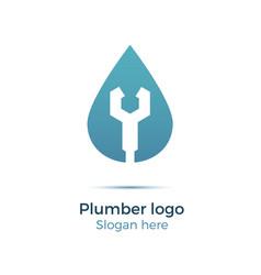 Plumbing company logo vector