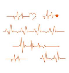 pulse line medicine modern flat cardiogram vector image