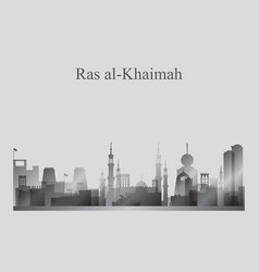 Ras al-khaimah city skyline silhouette in vector