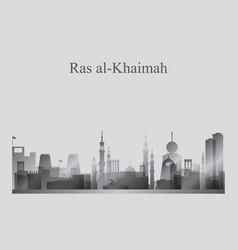 Ras al-khaimah city skyline silhouette vector