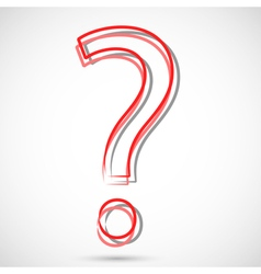 Red Question vector image
