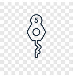 Room key concept linear icon isolated on vector