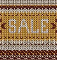 Sale Scandinavian style knitted pattern Flat style vector