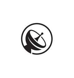 satellite icon design vector image