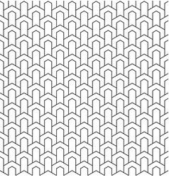 Seamless geometric pattern in style art deco vector