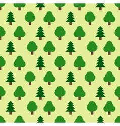 Seamless pattern of forestry tree vector