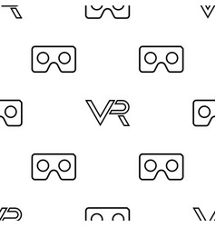 seamless pattern with vr logos vector image