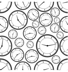 Seamless repeating pattern abstract clock vector