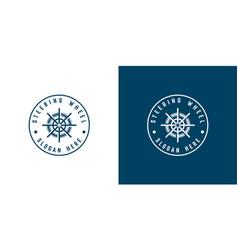 ship wheel logo template design vector image