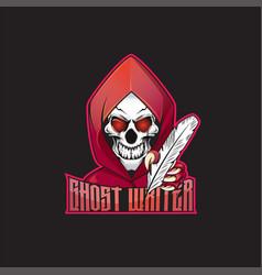 Skull ghost mascot logo design vector