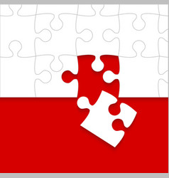 Some white puzzles pieces red - jigsaw vector