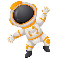 Spaceman in spacesuit flying vector